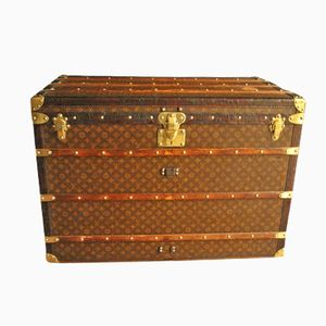 Vintage French Extra Large Steamer Trunk from Louis Vuitton, 1920s