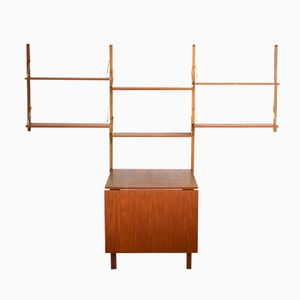 Danish Teak Wall System with Table by Poul Cadovius, 1950s