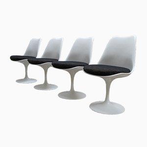 Non-Swivel Tulip Chairs by Eero Saarinen for Knoll International, 1980s, Set of 4