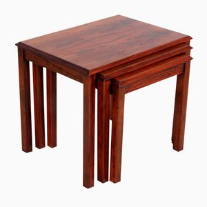 Mid-Century Rosewood Nesting Tables, 1970s