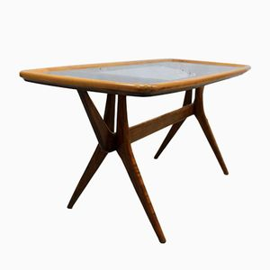 Walnut & Glass Coffee Table by Cesare Lacca for Cassina, 1950s