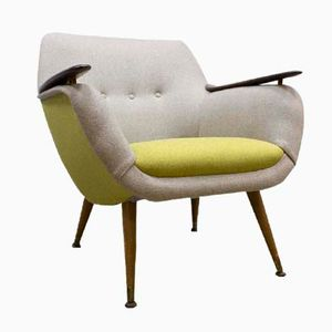 Mid-Century Dutch Bicolored Lounge Armchair