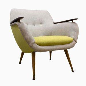 Niederländischer Zweifarbiger Mid-Century Sessel