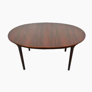 Mid-Century Extendable Oval Rosewood Dining Table from McIntosh