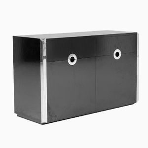 Black Italian Cabinet by Willy Rizzo, 1972