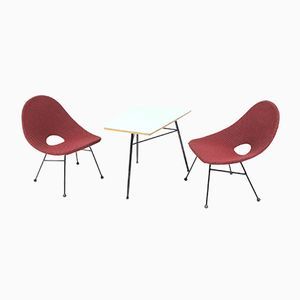 Mid-Century Brussels Style Lounge Set