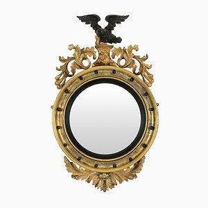 Englischer Regency Konvex Spiegel, 1840er