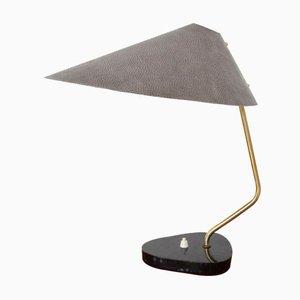 Mid-Century German Marble & Aluminum Table Lamp from IGM