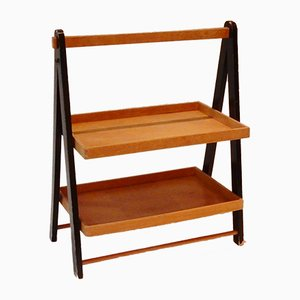 Vintage Dutch Foldable Magazine Rack or Tray Table