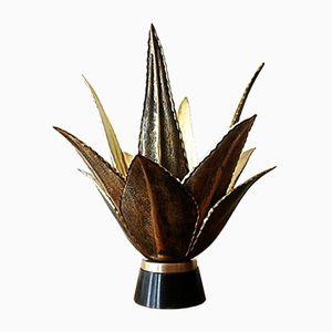 Bronze Aloes Lampe von Maison Charles