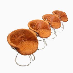 Vintage Pan Am Stühle von Gastone Rinaldi für Rima, 1960er, 4er Set