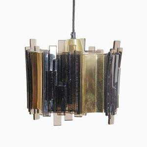 Schwedische Mid-Century Glas Hängelampe von Carl Fagerlund, 1960er