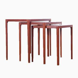 Mid-Century Danish Set of Teak Nesting Tables by Eske Kristensen for Ludvig Pontoppidan, 1960s