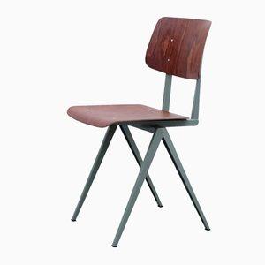 Dunkelroter S16 Schichtholz Stuhl von Galvanitas, 1970er