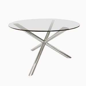 Chromed Base Dining Table by Roche Bobois, 1970s