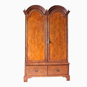 English Queen Anne Style Walnut Armoire, 1930s
