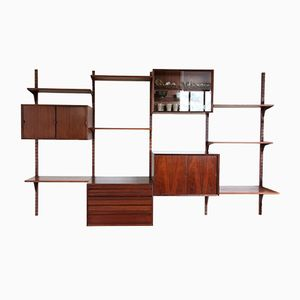 Wall Unit System in Rio Rosewood by Poul Cadovius for Royal System