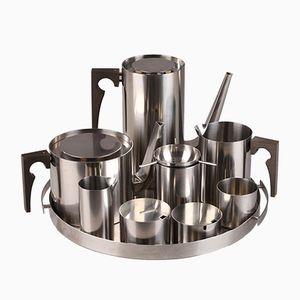 Vintage Cylinda-Line Kaffee und Tee Service von Arne Jacobsen für Stelton