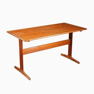 Scandinavian Teak Desk on Two Straight Feet, 1960s