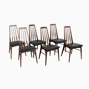 Danish Eva Rosewood Eva Dining Chairs by Niels Koefoed for Hornslet Møbelfabrikin, 1964, Set of 6
