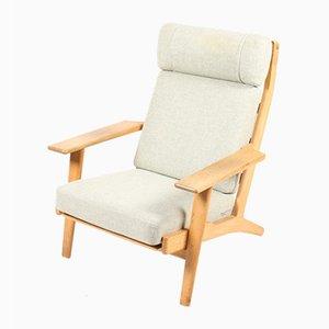 Danish Model 290 Oak Easy Chair by Hans J. Wegner for Getama, 1950s
