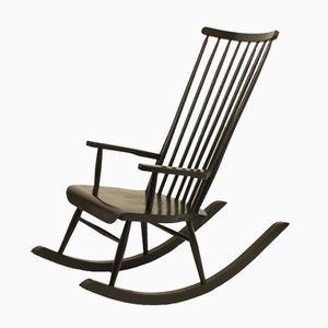 Finnish Rocking Chair by Varjosen Puunialostus for Uusykila, 1960s