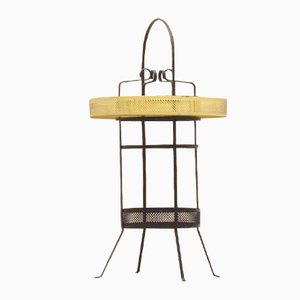 Mid-Century French Black & Yellow Side Tray Table by Mathieu Matégot