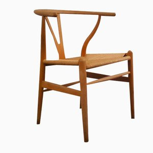 Mid-Century Danish CH24 Wishbone Chair by Hans J. Wegner for Carl Hansen & Søn