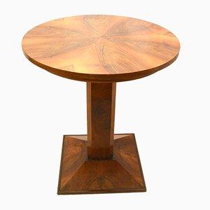 Runder Deutscher Art Deco Nussbaum Tisch, 1935