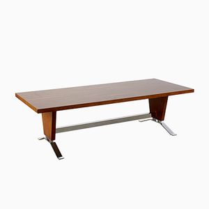 Mid-Century Rosewood and Chrome Coffee Table, 1970s