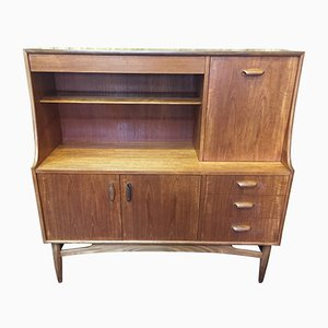 Mid-Century Teak Highboard with Drinks Cabinet from E. Gomme, 1960s