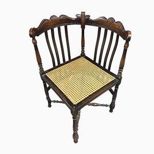 Antique British Oak Bergere Corner Chair