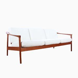 Skandinavisches Mid-Century Colorado Drei-Sitzer Teakholz Sofa von Folke Ohlsson für Bodafors, 1963
