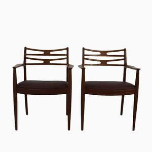 Danish Teak Easy Chairs by Johannes Andersen and Arne Vodder for Vamo Sønderborg, 1954, Set of 2