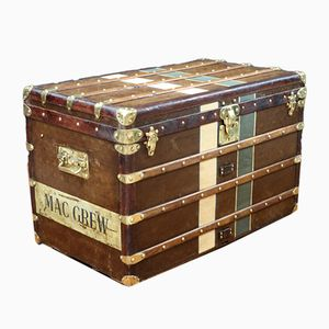 Monogram Stenciled Steamer Trunk from Louis Vuitton, 1920