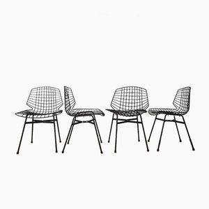 French Model Nice Chairs by Gilbert Laurent, 1960s, Set of 4