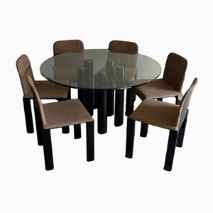 Dining Table with Six Chairs by Marco Zanuso for Zanotta, 1979