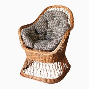 Vintage Rattan Children's Chair, 1970s