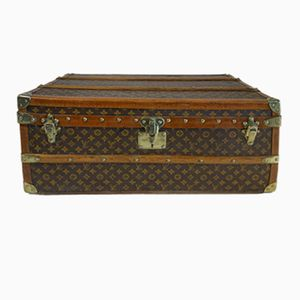 Vintage Stenciled Cabin Trunk from Louis Vuitton