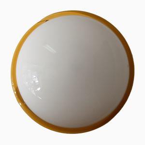 Italienische Decken-oder Wandlampe aus Weißem Murano Glas