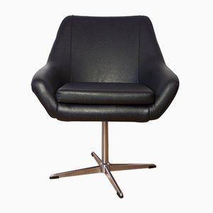 Chaise Pivotante Vintage Noire
