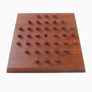 Teak Solitaire Board Game by Piet Hein for Skjode Denmark