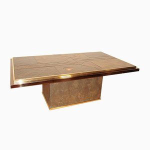 Stone and Bronze Coffee Table by Paul Kingma, 1970