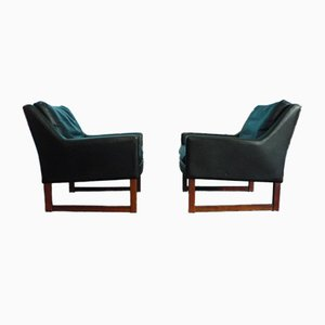 Leather Armchairs by Rudolf Glatzel for Kill International, Set of 2