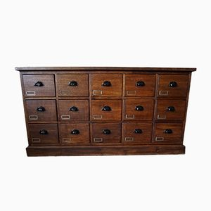 French Oak Apothecary Bank of Drawers, 1930s