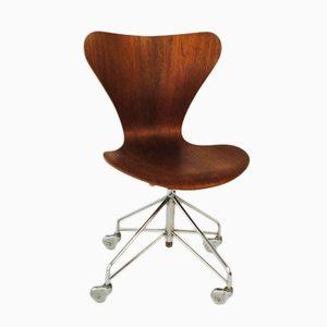 Mid-Century Bürostuhl von Arne Jacobsen für Fritz Hansen