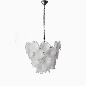 Italian Blown Glass Chandelier from Mazzega, 1960s