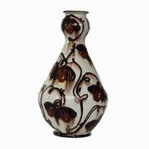 Dänische Glasierte Vintage Keramik Vase von Hermann Kähler