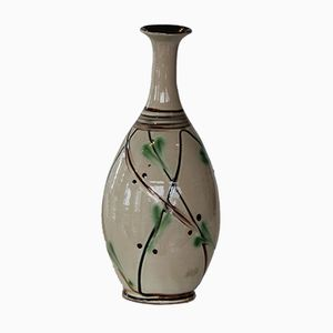 Dänische Vintage Keramik Vase mit Schlanken Hals von Kähler