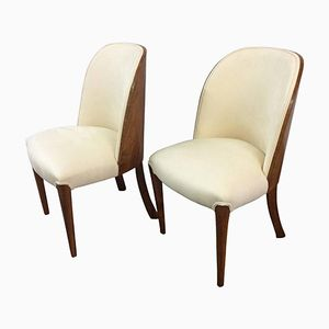 Art Deco Walnut Tub Chairs by Harry and Lou Epstein, 1930s, Set of 2